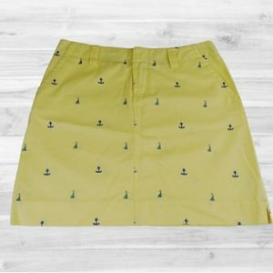 Lilly Pulitzer Mini Skirt Yellow Nautical Sailboat